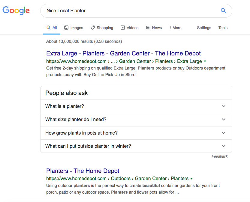 Hard to find small local options in onine searches