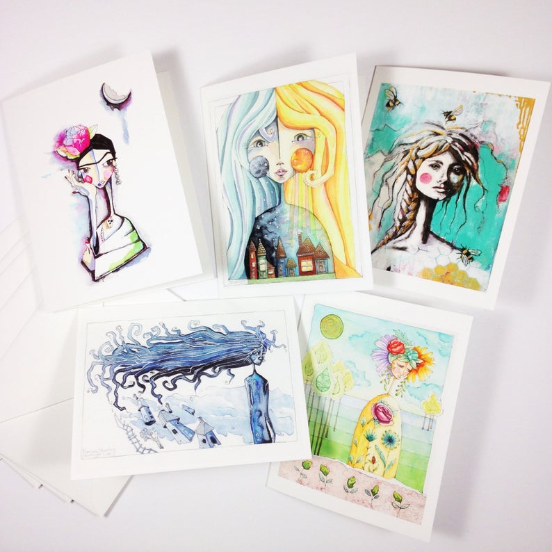 gift card hand made painted local artist support
