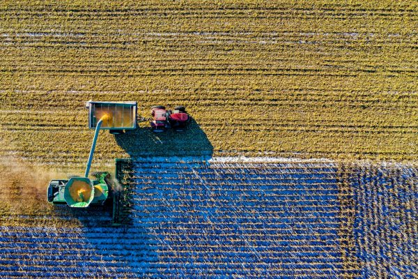 Facroty Farming aerial shot
