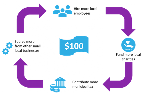 vlife Infographic showing how small businesses contripute to local economies