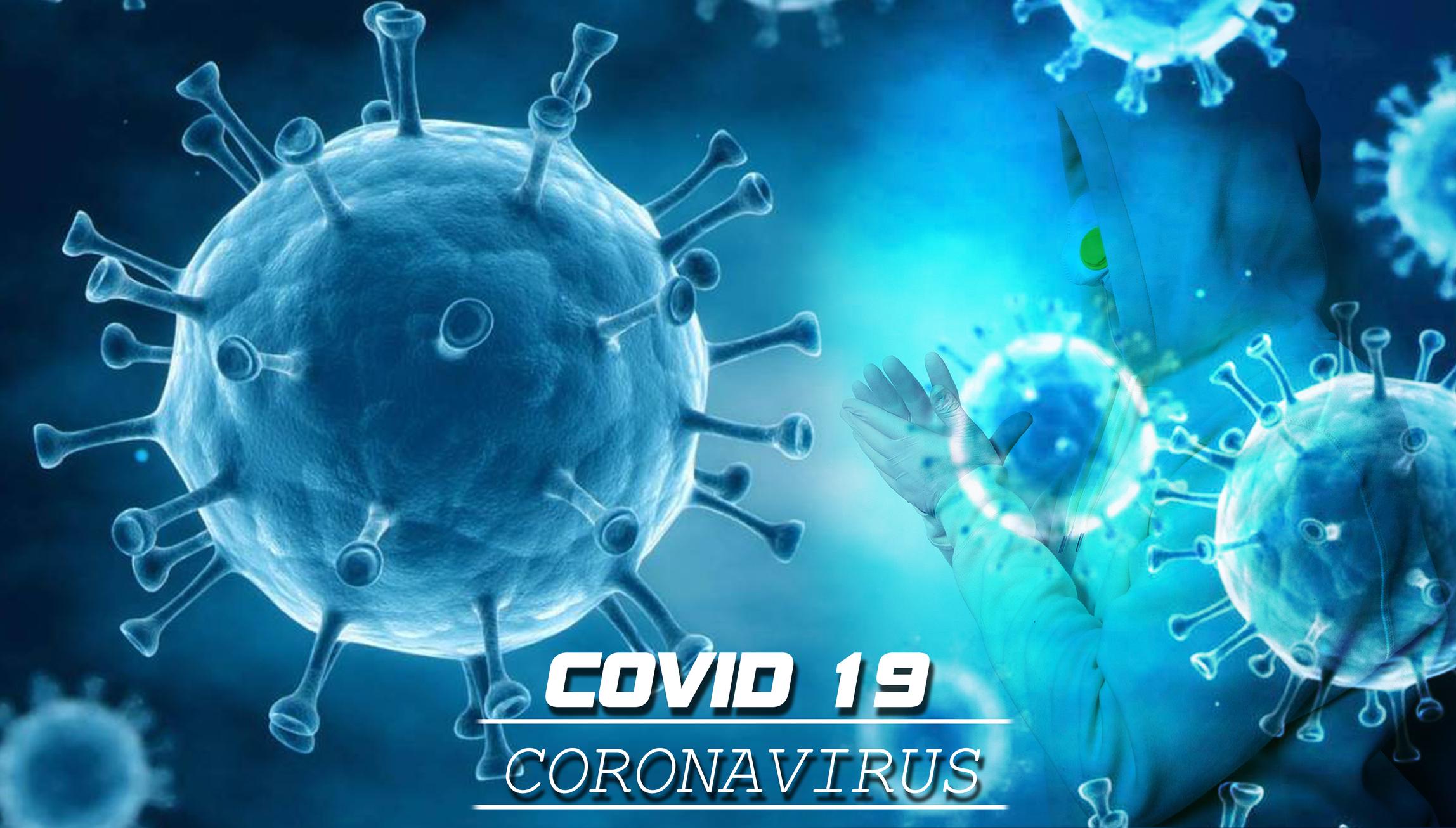 microscopic image of coronavirus
