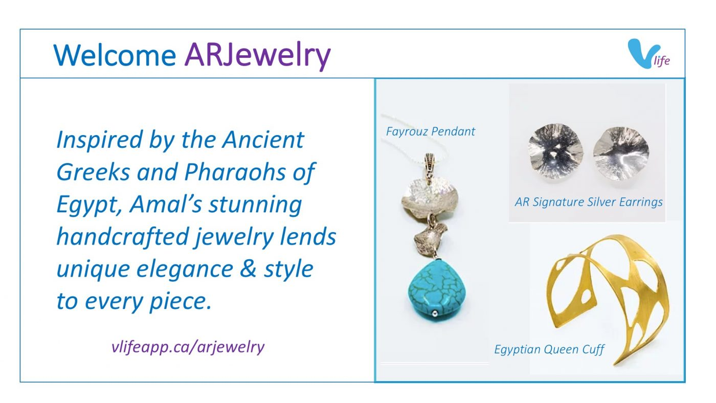 vStore Welcome ARJewelry cuff pendant and earrings