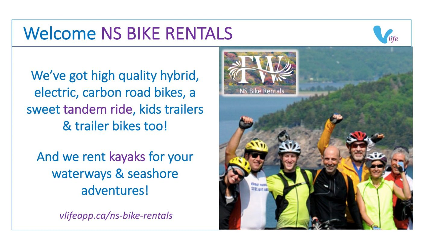 New vStore Welcome NS Bike Rentals Info Poster