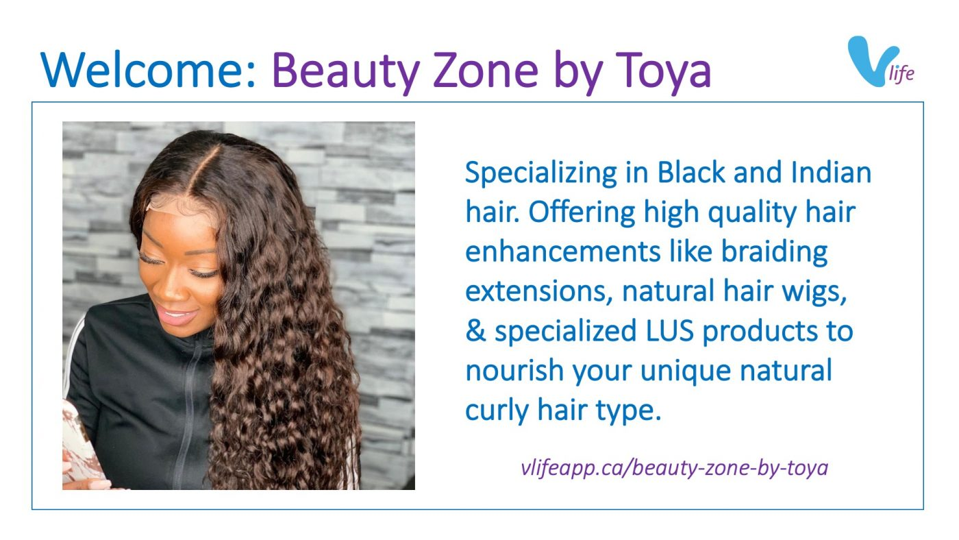 vStore Welcome Beauty Zone by Toya info poster