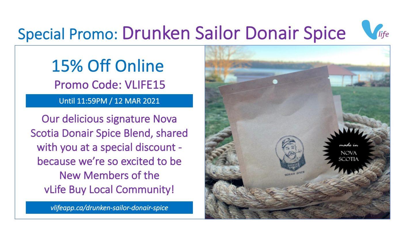 vStore Special Promo Drunken Sailor Donair Spice vLife Promo Code Feb 2021